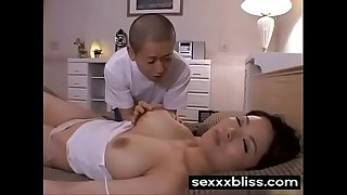Japanese sleeping mom Miki Sato and youthfull boy (part 1) at SexXxBliss.com