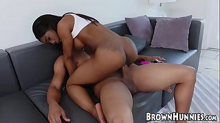 Chocolate sweetheart is ready for a steamy fuck session