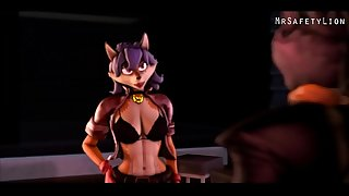 sly cooper has a 3 way with carmelita fox  and krystal and he knocks them up by mrsafetylion