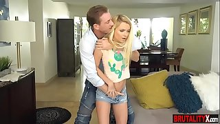 Disobedient stepdaughter teenager penalize fucked by stepdad