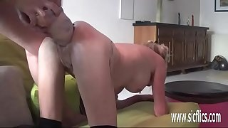Double fist and fake penis fucking her huge holes