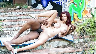 Romanian Babe Amina Danger Hooks Up With Big black cock And Freaks Out!