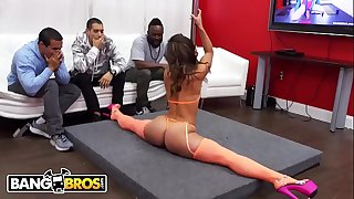 BANGBROS - Kelsi Monroe Performs A Strip Display For Her Biggest Fan, Then Sucks His Dick