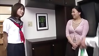 Shiho Terashima - Stepmother and daughter lesbo life